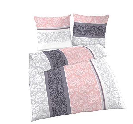 soma biber bettw sche 2 teilig bettbezug 135 x 200 cm kopfkissenbezug 80 x 80 cm rosa quarz. Black Bedroom Furniture Sets. Home Design Ideas