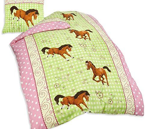 herding 445749050 bettw sche pferde motiv kopfkissenbezug 80 x 80 cm bettbezug 135 x 200 cm. Black Bedroom Furniture Sets. Home Design Ideas