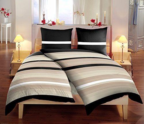 mikrofaser bettw sche 135x200cm 6 teilig set angebot streifen stilvoll edel ainedab. Black Bedroom Furniture Sets. Home Design Ideas