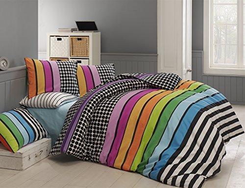 135 x 200 cm bettdecke und kopfkissen bezug aus flanell baumwolle mit rei verschluss. Black Bedroom Furniture Sets. Home Design Ideas