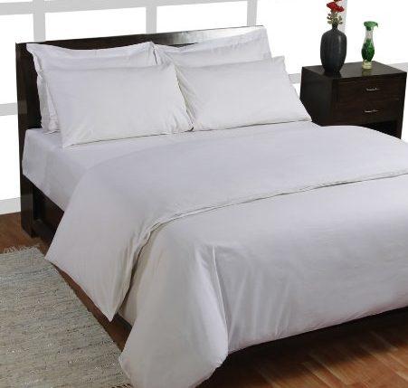 homescapes luxus baumwoll satin bettw sche 135 200 cm 2 tlg wei gyptische baumwolle. Black Bedroom Furniture Sets. Home Design Ideas