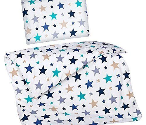 kinderbettw sche bettw sche kinder sterne blau jungen. Black Bedroom Furniture Sets. Home Design Ideas