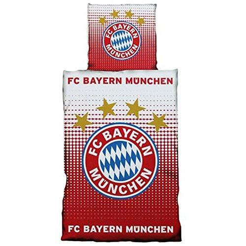 Fc Bayern München Bettwäsche Logo Rot Weiß 135200 Cm Inkl