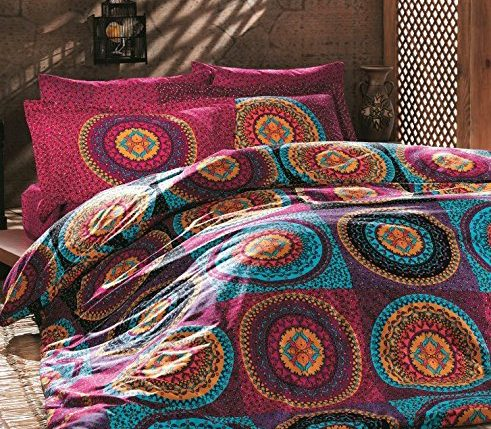 omases bettw sche set leinen doppelbett baumwolle paisleymuster mandala hippie indisch. Black Bedroom Furniture Sets. Home Design Ideas
