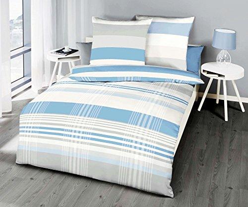 kaeppel renforc linon bettw sche prime time streifen hellblau gr e 135x200cm bettw sche ainedab. Black Bedroom Furniture Sets. Home Design Ideas