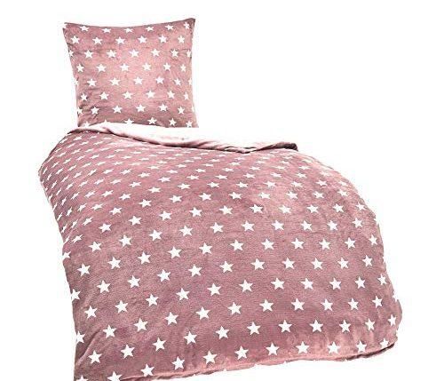 malika winter warme wende pl sch sterne bettw sche nicky teddy cashmere touch coral fleece. Black Bedroom Furniture Sets. Home Design Ideas
