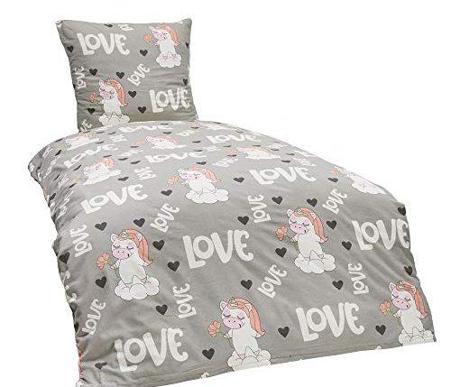 dreamhome24 100 baumwolle fein biber bettw sche m dchen. Black Bedroom Furniture Sets. Home Design Ideas