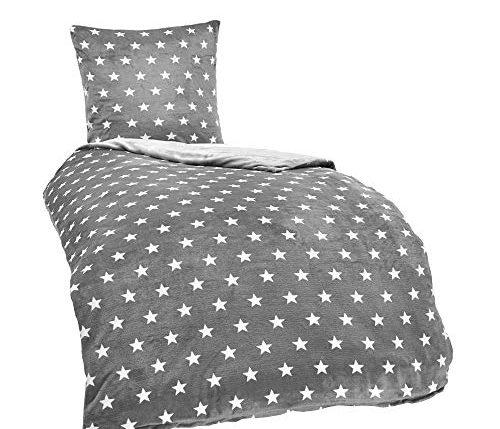 malika winter warme wende pl sch sterne bettw sche nicky. Black Bedroom Furniture Sets. Home Design Ideas